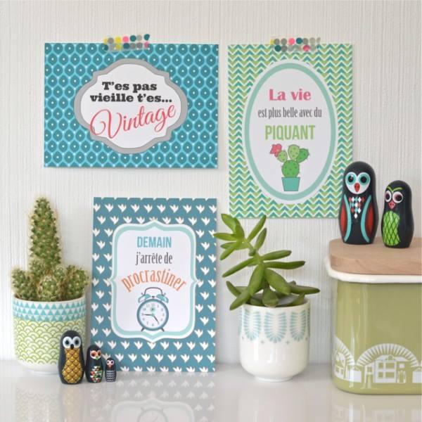 フランス語が書かれたポップで可愛いデザインのフレンチポップなカードはいかがですか?